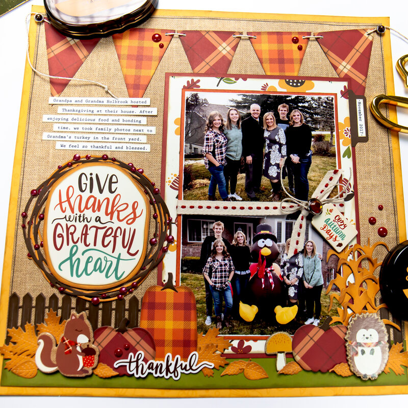 Give Thanks Thanksgiving Layout