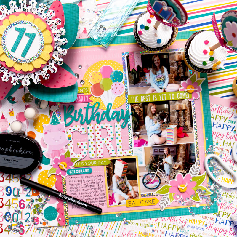 Birthday Girl Layout