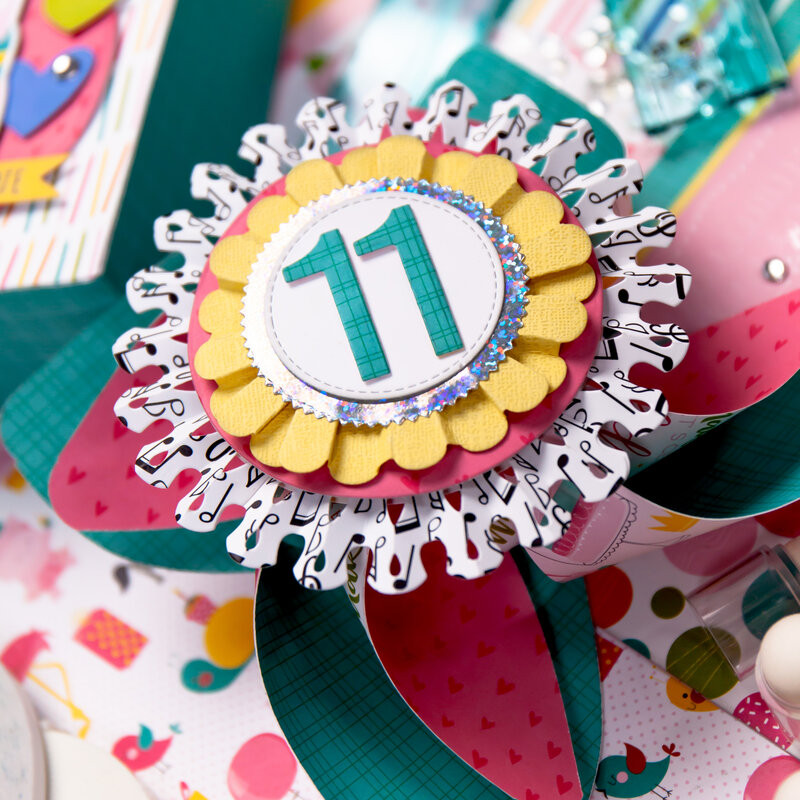 Birthday Party Ensemble - Crown, Wand, Favor Bag, Cupcake Wrappers/Picks