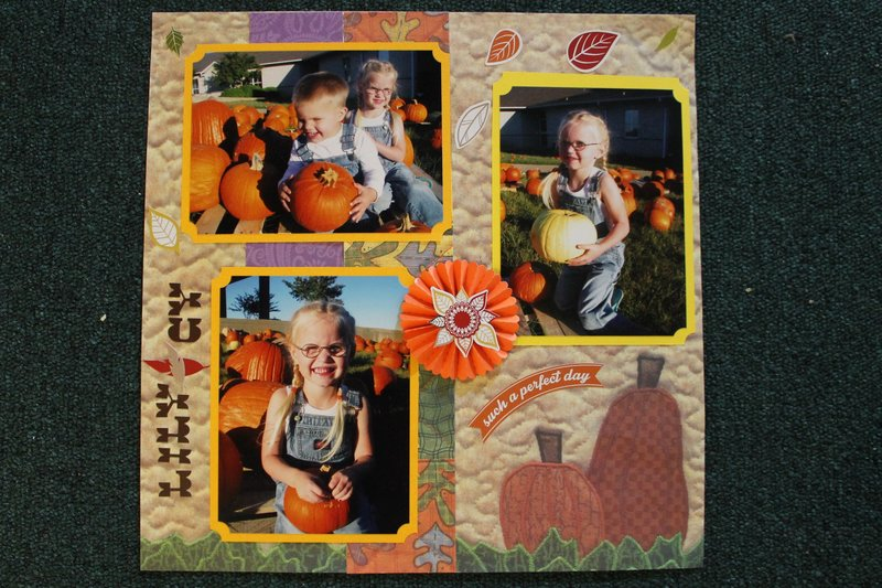 Fall Layout of Cy and Lily
