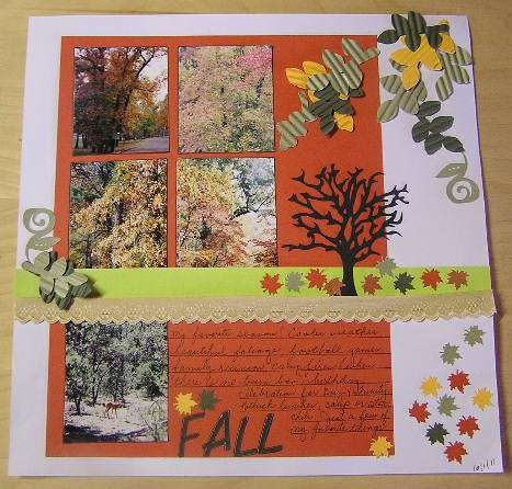 Fall- lo for October Cricut Project Challenge w/twist (tree)
