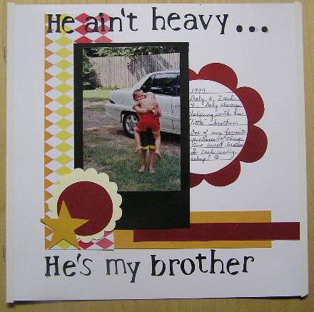 He ain't heavy..he's my brother. Lo for sketch in week 3 also for Cricut Challenge.