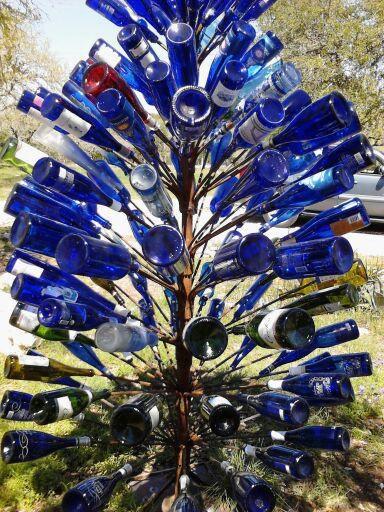 July Photo Fun - Blue Bottle Tree - Mini # 5 - B
