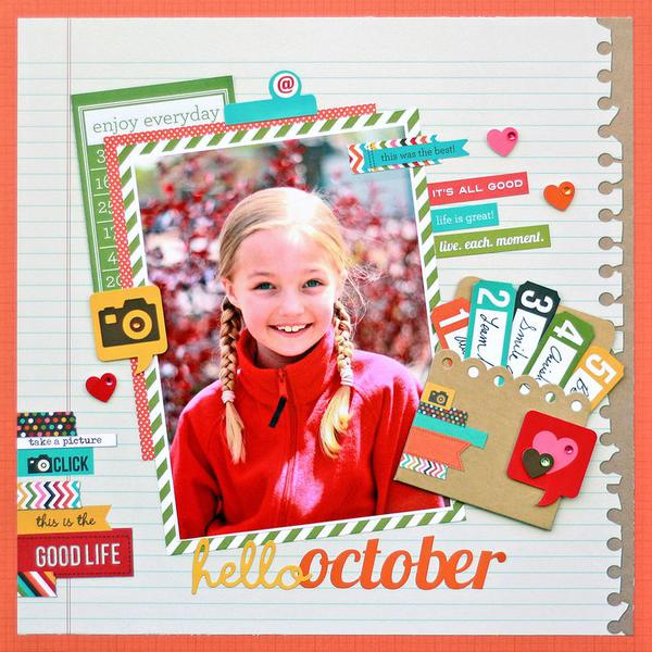 Hello October *Simple Stories Sn@p*