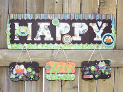 Altered Happy Plaque *Adornit*