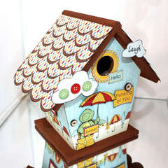 Altered Birdhouse *Nikki Sivils*