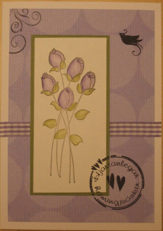 A purple card for any occasion