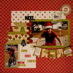 an elf on a new bike