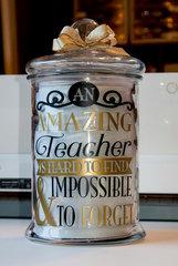 Amazing Teacher Candy Jar