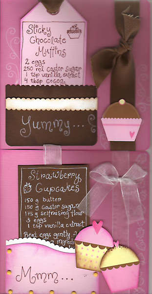 Cupcake recipe cards
