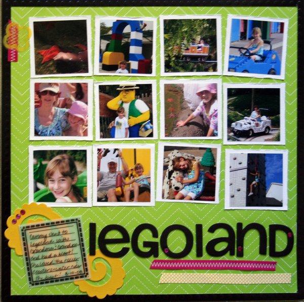 Legoland- As seen in Aug. Scrapbooks Etc MIY