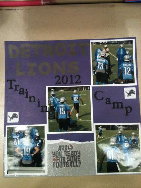 Detorit Lions Training camp 1 of 2