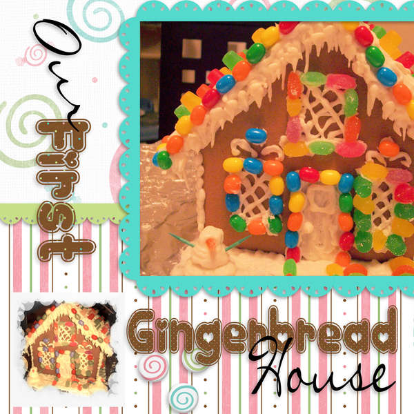 Our First Gingerbread House- page1