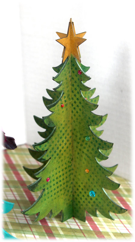 Clear Scraps 3D Trees, Chipboard