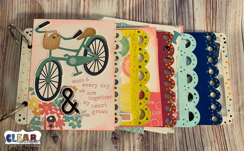 Circle Scallop chipboard mini album