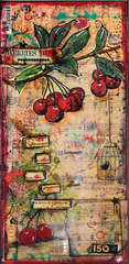 Cherries Ripe Canvas *TallyScrapper*