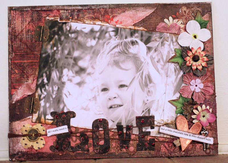 altered canvas *love*