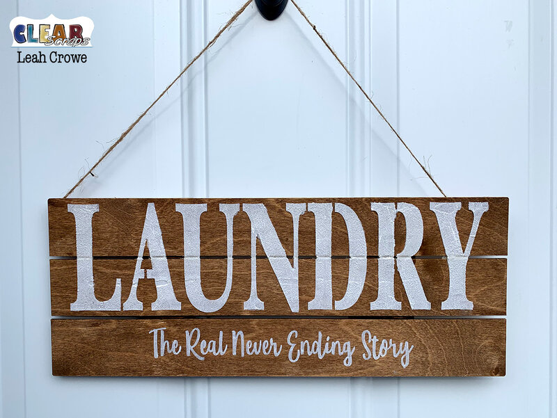 Laundry home decor pallet sign