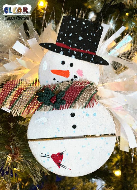 Mini Snowman Pallet Ornament
