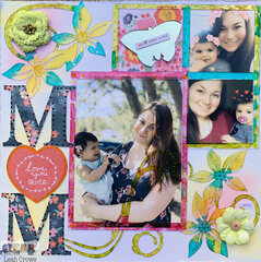 Mom acrylic layout