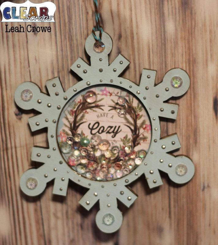 Snowflake shaker ornament