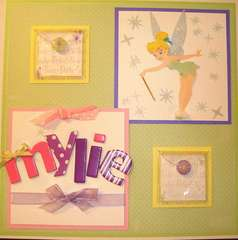 Mylie's Tinkerbell Themed Baby Book