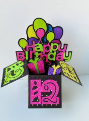 Happy Birthday Pop Up Box Card