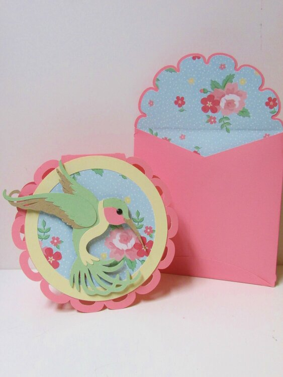 Mother's Day Hummingbird card and envelop