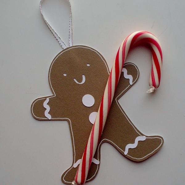 Gingerbread Candy Cane Holder/Ornament