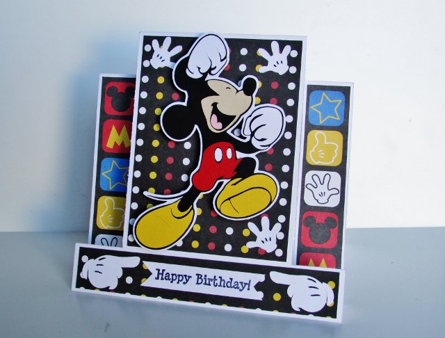 Mickey Mouse (center step) Birthday card