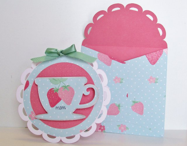 Mother's Day Tea Cup Card and Envelop
