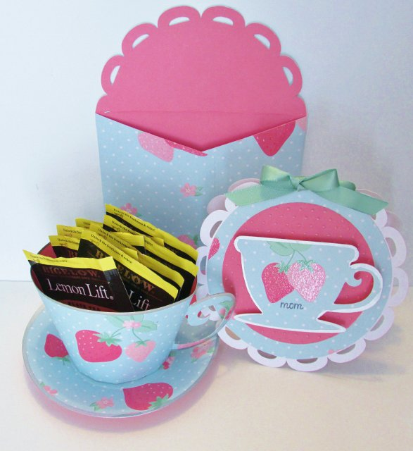Mother's Day 3-D Tea Cup and Tea Cup Card