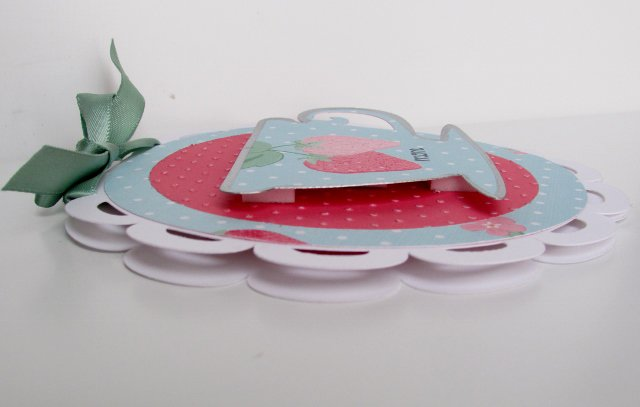 Mother's Day Tea Cup Card (side view)