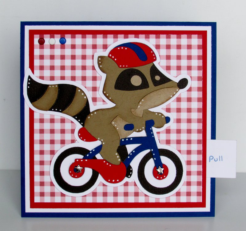Red, White and Blue Thank You card