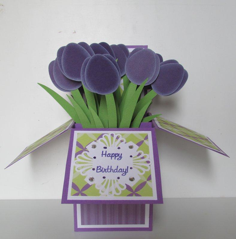 Tulip Happy Birthday Pop Up Box Card