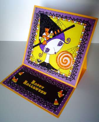 Candy Witch Halloween card