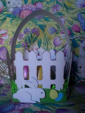 Easter Fence Basket