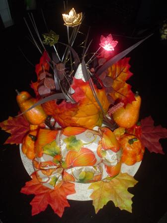 Fall Witches Hat Table Centerpiece