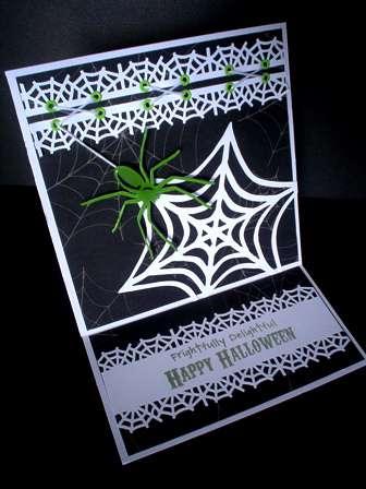 Frightfully Delightful Spider Halloween card