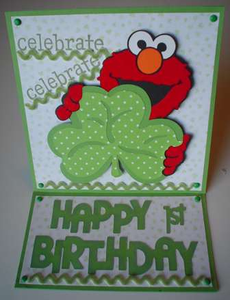 St. Patrick's Day/1st Birthday card