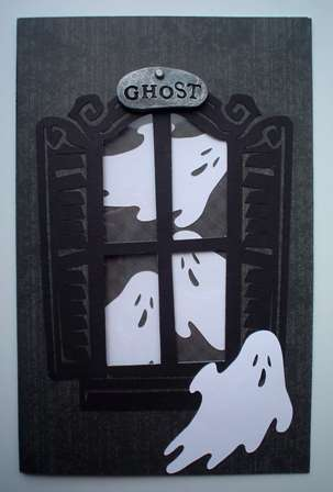 Haunted Window card