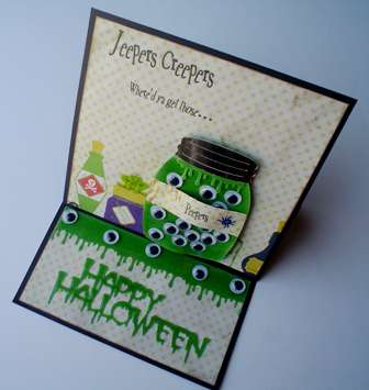 """Jeepers Creepers card - HDH130 """"Eye Can See You."""""""