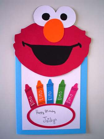 Elmo card my 9 year old daughter made