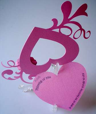 Mother's Day Heart Shape card (opened)