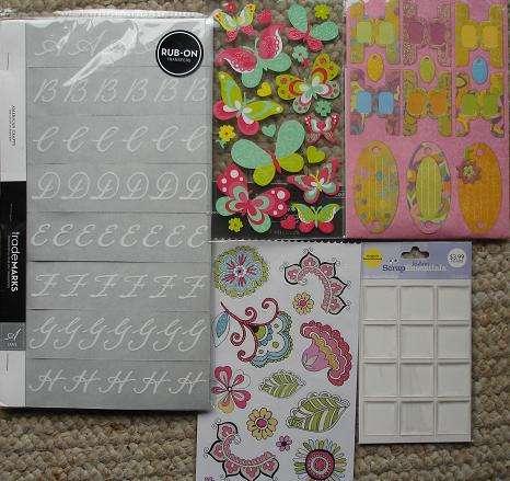 American Crafts, Colorbok, Marcela by Kay, Sticko, Joann
