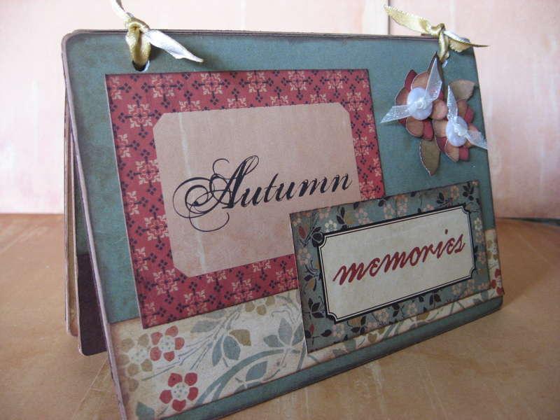 Autumn Lacing Card book
