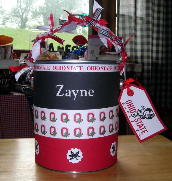 Ohio State paint can for Zayne