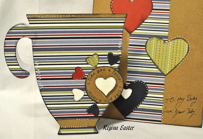 COFFEE CUP SHAPED CARD