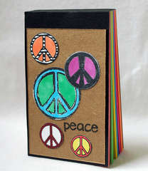 Peace Sign Altered Scratch Pad
