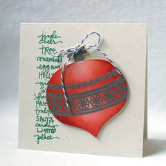 Stamped Ornament Christmas Card